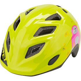 MET Elfo Casque Enfant, lime green monkey glossy